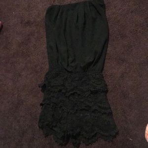 Other - Shorts romper - lace shorts and tube top